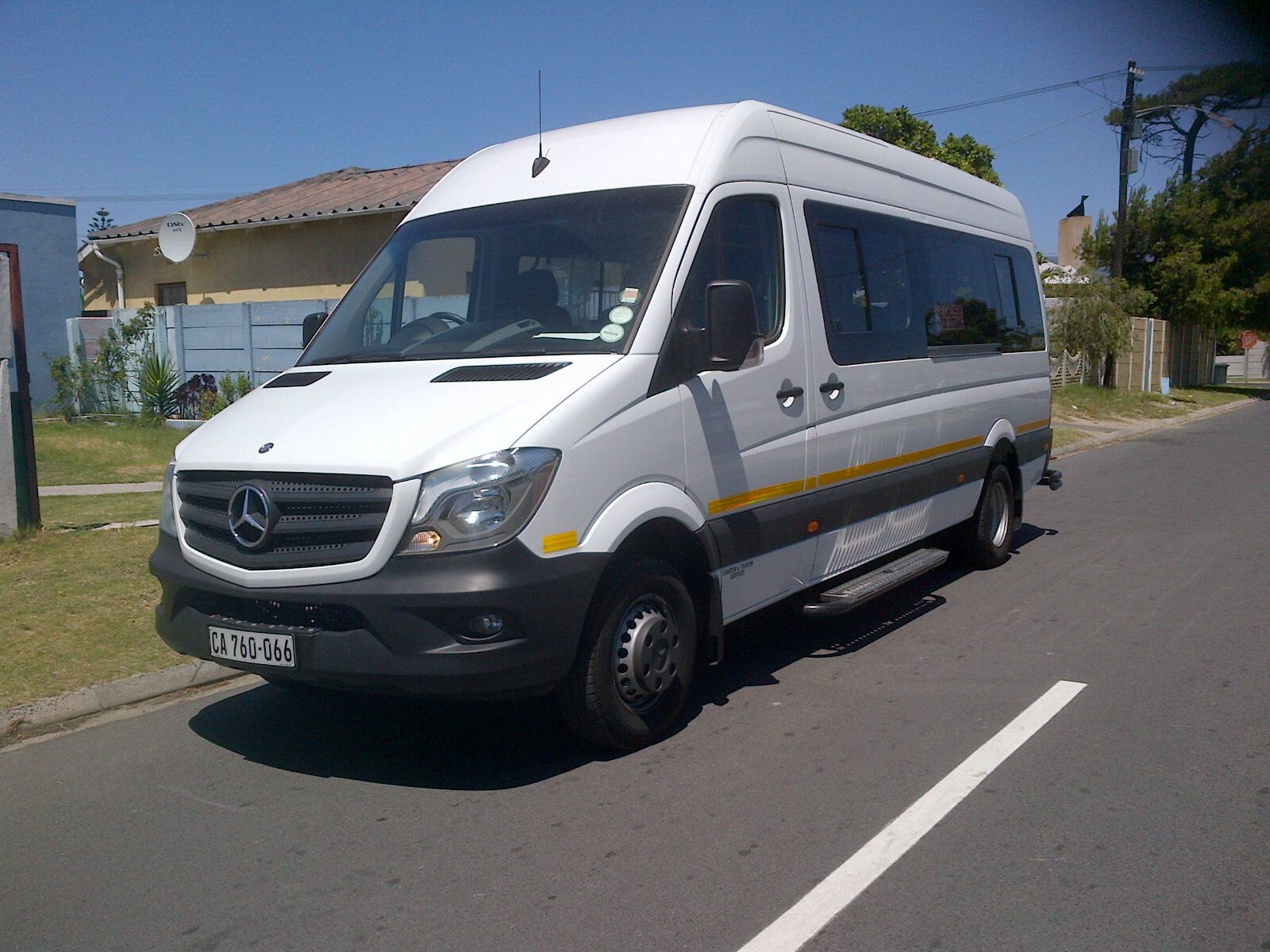 22 seater vehicle with driver.